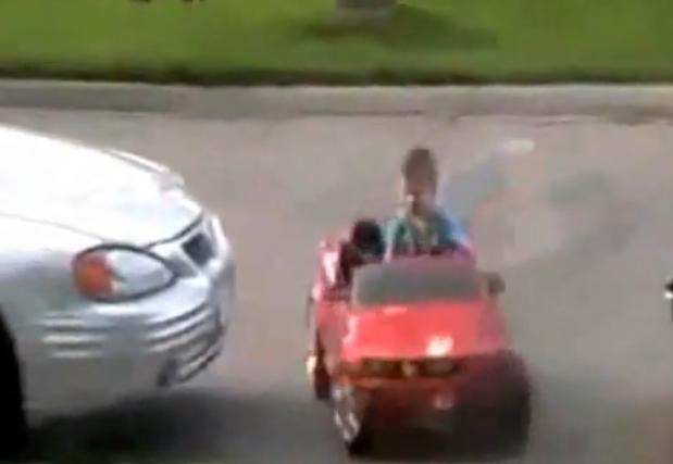 kid parks car