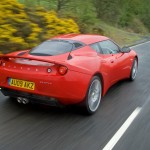 LOTUS EVORA Ardent Red Rear Qtr Driving 1