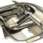 918 Spyder interior sketch