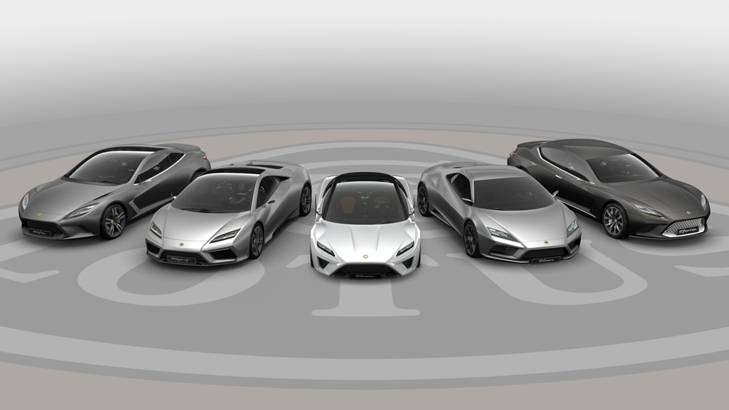 2015 Lotus: Elise, Esprit, Elan, Evora and Eterne Concepts
